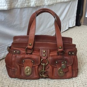 Coach Legacy Mandy Courier Bag Whiskey